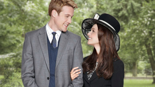 PHOTO: Nico Evers-Swindell (Prince William) and Camilla Luddington (Kate Middleton) star in the Lifetime Original Movie William & Kate