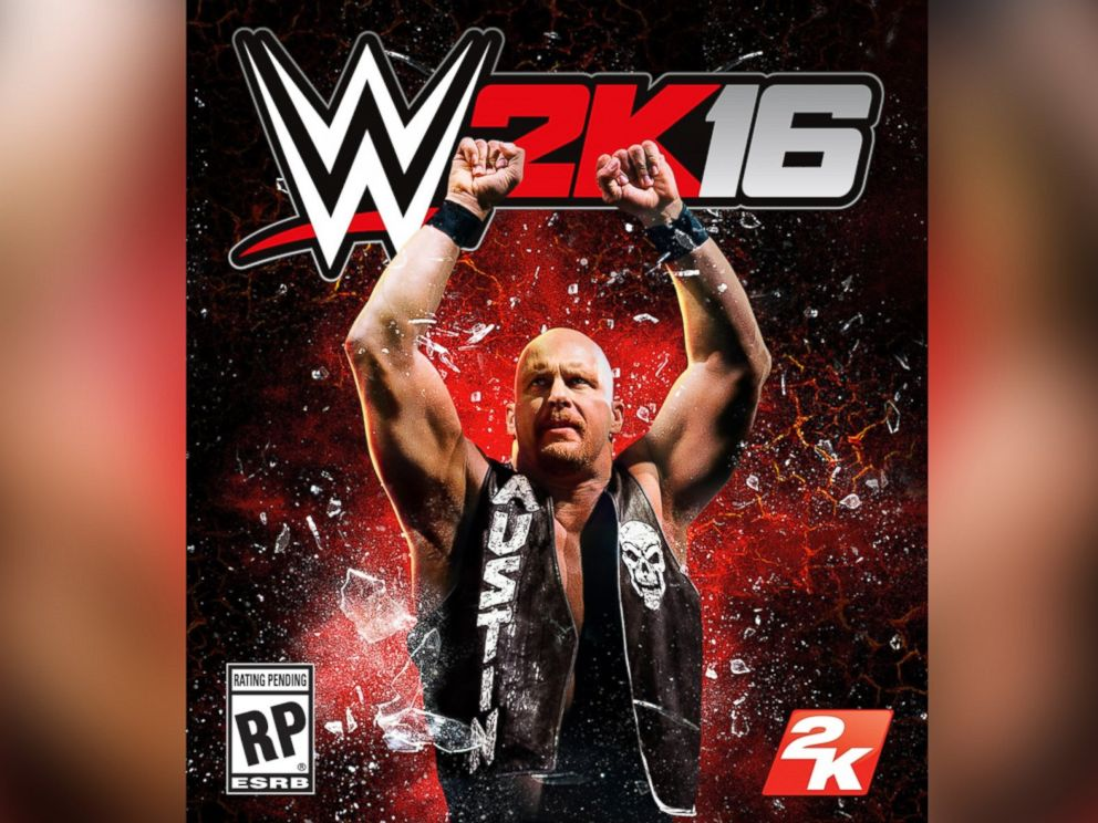 PHOTO: Stone Cold Steve Austin is seen on the cover of WWE 2K16 from 2k Games.
