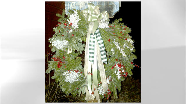 PHOTO: Lisa Riso's Christmas wreath is shown.