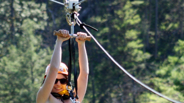 PHOTO:ZipZone Naked 100 raised $15,000 for breast cancer research at ZipZone Adventure Park in Peachland.
