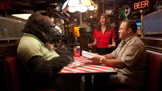 """PHOTO:Kevin James, right, and Jackie Sandler star in """"Zookeeper."""""""
