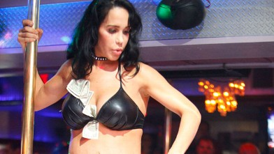 PHOTO: Nadya Suleman, the Octomom, performs her first strip show, July 13, 2012, at the Playhouse in Miami.