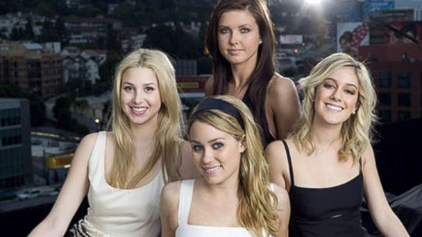 PHOTO: Season 1 cast of The Hills on MTV starring Lauren Conrad, Heidi Montag, Audrina Partridge and Lo Bosworth.