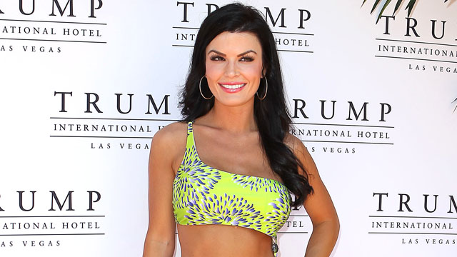 PHOTO: Miss Pennsylvania Sheena Monnin attends the Kooey Swimwear Fashion Show at the Trump International Hotel, May 23, 2012.
