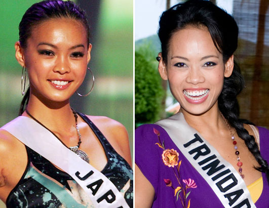 Miss japan miss trinidad threesome