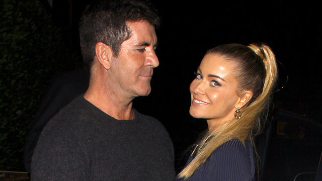 PHOTO: Simon Cowell and Carmen Electra are seen leaving Cecconi's restaurant in West Hollywood, Calif., Sept. 22, 2012.