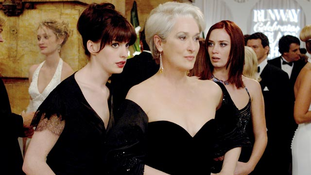"PHOTO: Anne Hathaway, left, and Meryl Streep are seen in a scene from the movie, ""Devil Wears Prada."""