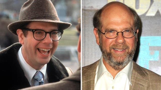 """PHOTO: Stephen Tobolowsky, left, in a scene from the movie, """"Groundhog Day."""" Stephen Tobolowsky, right, arrives at the FOX All-Star Party, July 23, 2012, in West Hollywood, Calif."""