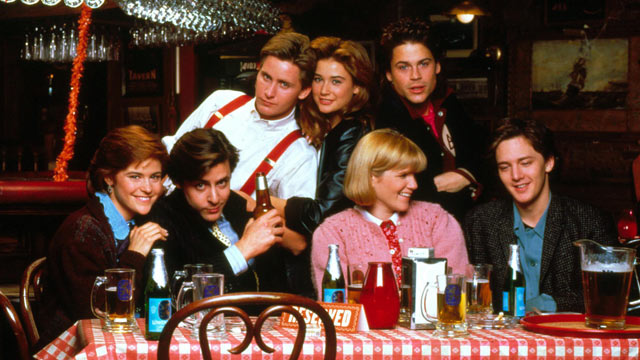 "PHOTO: A group of friends. just out of college, struggle with adulthood in the 1985 hit, ""St Elmo's Fire."""