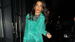 Amal Clooney Steps Out in a Suede Coat