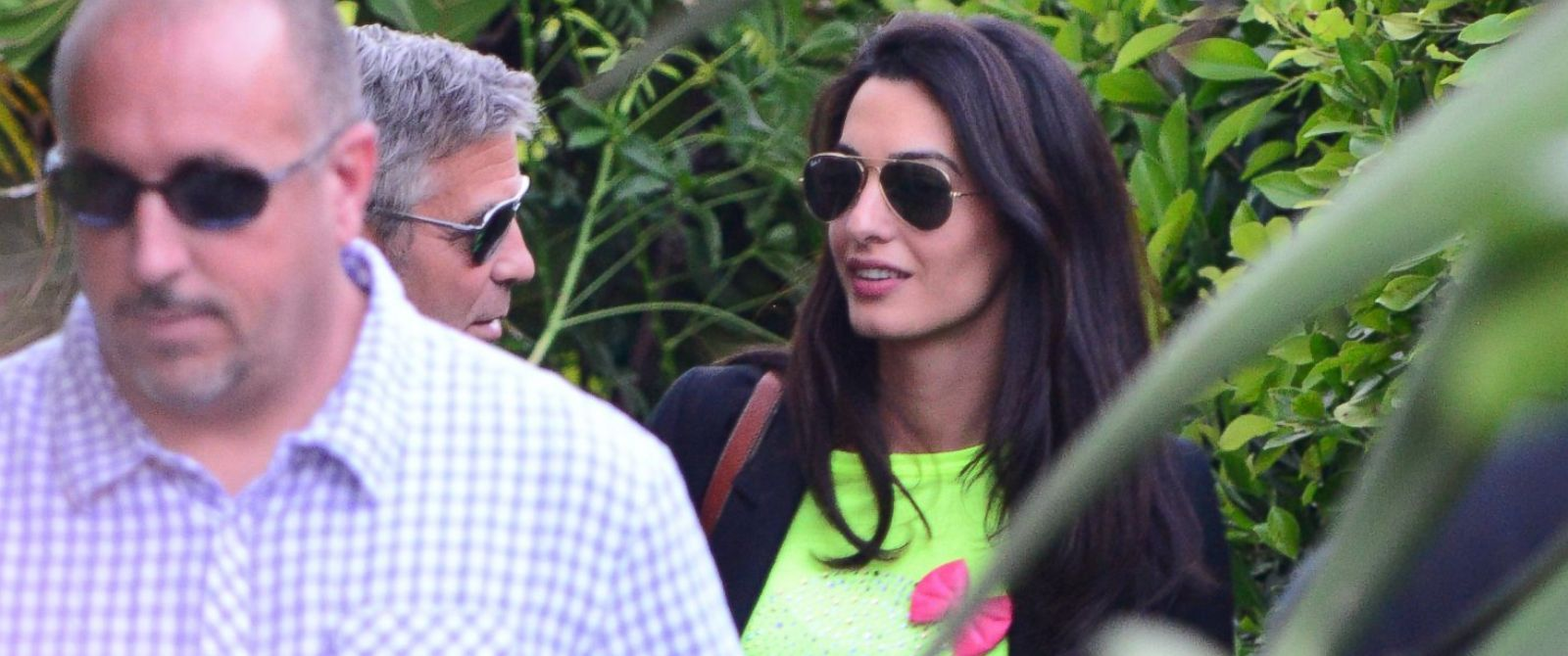 PHOTO: George Clooney and Amal Alamuddin leaving Cafe Habana Malibu on May 11, 2014.