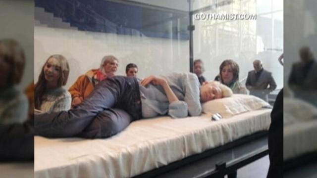 VIDEO: Tilda Swinton turns bedtime into art at New York Citys MoMA.