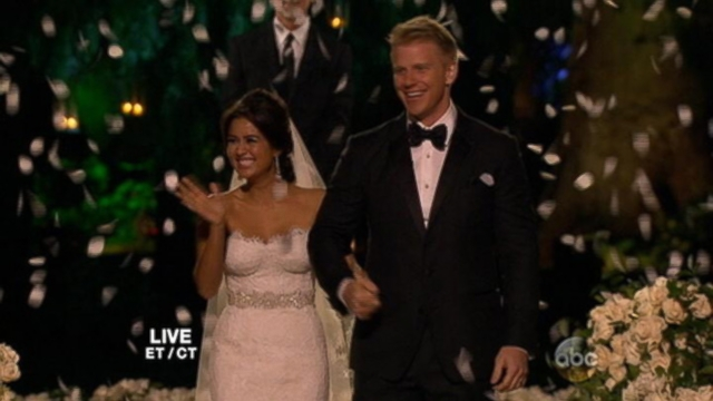 VIDEO: Sean Lowe and Catherine Giudicis Santa Barbara ceremony was broadcast on live TV.