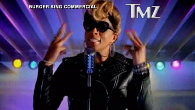 VIDEO: Mary J. Blige sang about chicken in Burger King ad that was criticized as stereotypical.