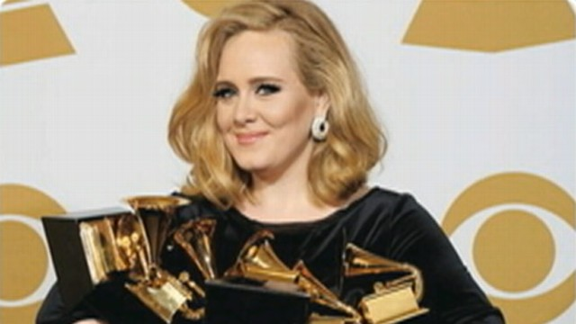 VIDEO: Adele nabbed six trophies at 54th Annual Grammy Awards.