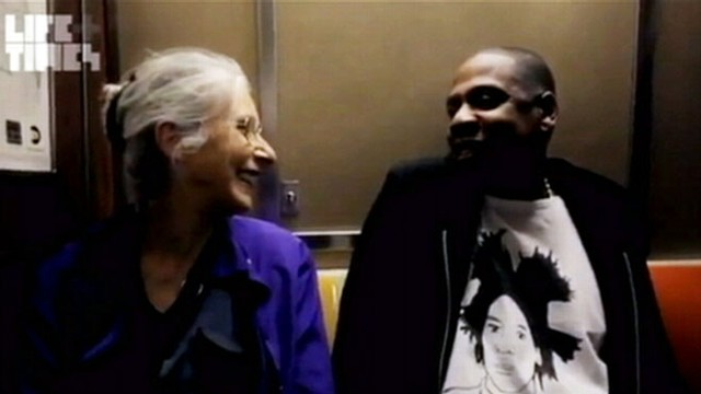 VIDEO: The rapper spoke to a female passenger who was unfamiliar with his musical career.
