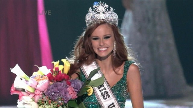 VIDEO: 21-year-old Miss California walks away with the Miss USA crown in Las Vegas.