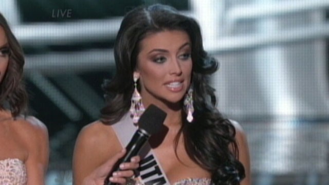 VIDEO: Miss Utah Marissa Powell struggled to answer a question about womens wages.