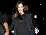 PHOTO: Megan Fox arrives at the Writers Guild for a Q and A session where she shows off her already slim body after giving birth to son Noah Shannon two months ago, Nov. 19, 2012, Los Angeles.