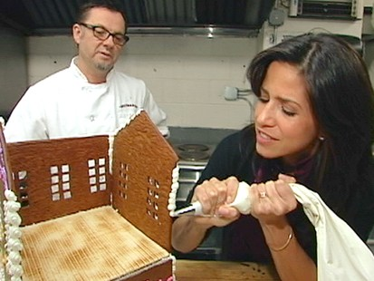 "VIDEO:""GMA Weekend"" anchors compete to see who can make the best gingerbread house."