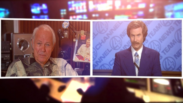 VIDEO: The actor tells Rolling Stone retired anchor Mort Crim helped him bring his famous newsman to life.