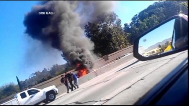 VIDEO: Fiery Car Crash Rescue