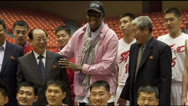 VIDEO: Dennis Rodman Organizes American B-Ball Game For North Korean Leader