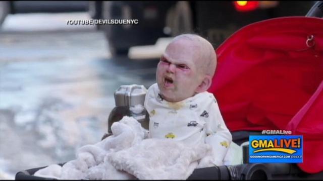 VIDEO: Terrifying Animatronic Baby Prank
