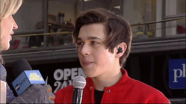 "VIDEO: The teen sensation talks about working with Pitbull on his new single, ""Mmm Yeah."""