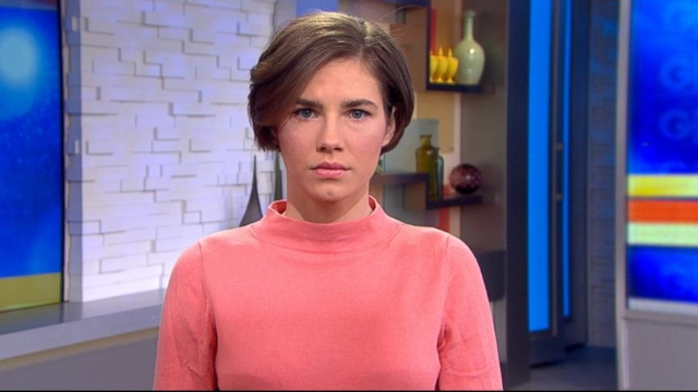 """VIDEO: Knox tells Robin Roberts the new murder conviction hit her """"like a train."""""""