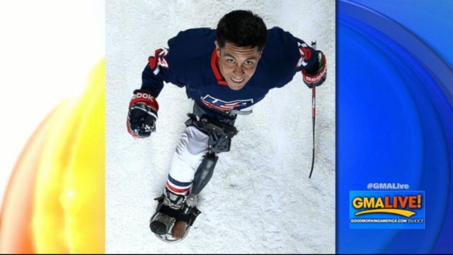 VIDEO: War Wounded Veteran Joins Team USA Sled Hockey Team