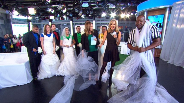 VIDEO: Four couples will battle it out for a dream wedding on GMA live on Valentines Day.