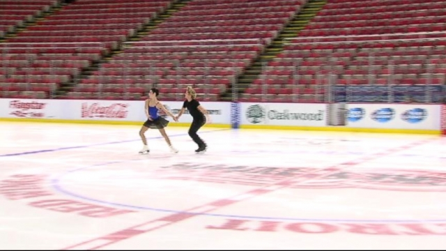 VIDEO: Derek Hough worked with Meryl Davis and Charlie White on their gold medal winning performance.