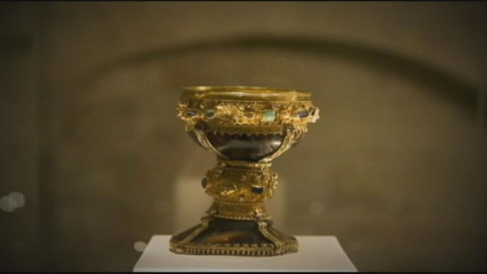 VIDEO: Two historians claim that the jewel-encrusted goblet is in a Spanish basilica.