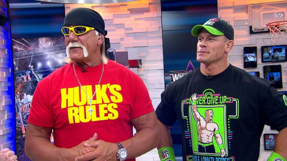 WWE: Hulk Hogan, John Cena Get Pumped for 'Wrestlemania ...