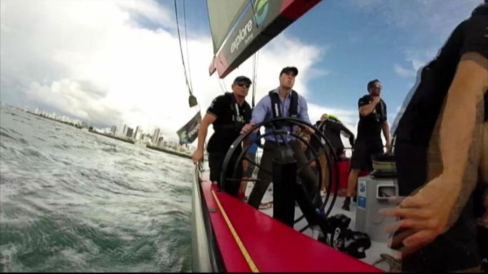 VIDEO: Kate Middleton defeated her husband and future king twice in Americas Cup sailboats.