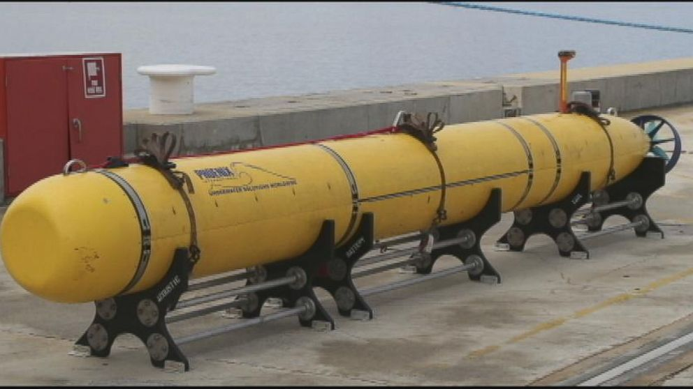 VIDEO: A Bluefin-21 sub will be sent underwater to create sonar images of the ocean floor.