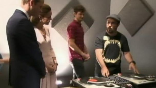 VIDEO: The Duke and Duchess visited a music studio in Adelaide.