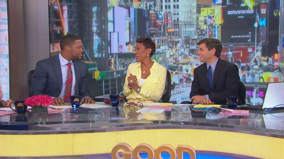 """VIDEO: Robin Roberts recent visit to """"Late Night"""" inspires """"GMA"""" to welcome Strahan with its own list."""