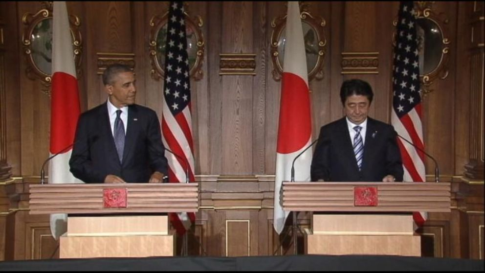 VIDEO: The president holds press conference in Japan during his Asia tour with U.S. Ambassador Caroline Kennedy.