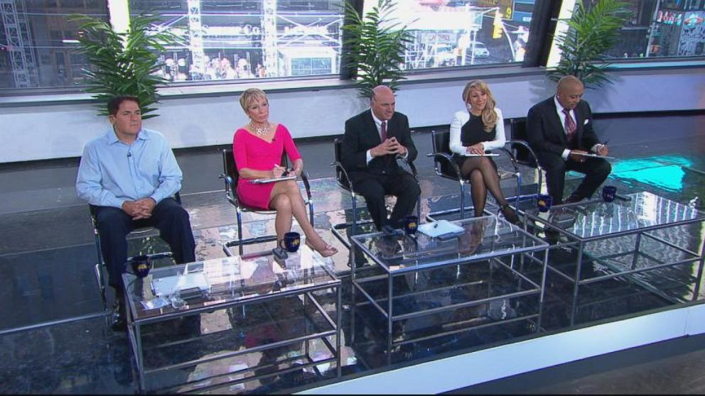 """VIDEO: """"GMA"""" anchors compete to see who can impress the personalities from """"Shark Tank."""""""
