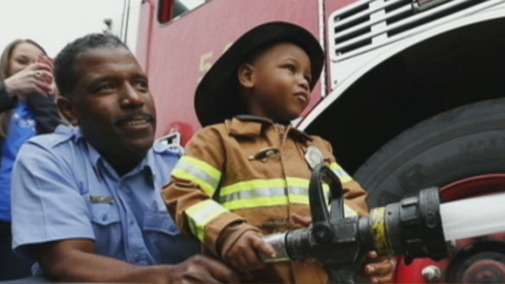 VIDEO: 3-Year-Old Gets His Firefighter Wish