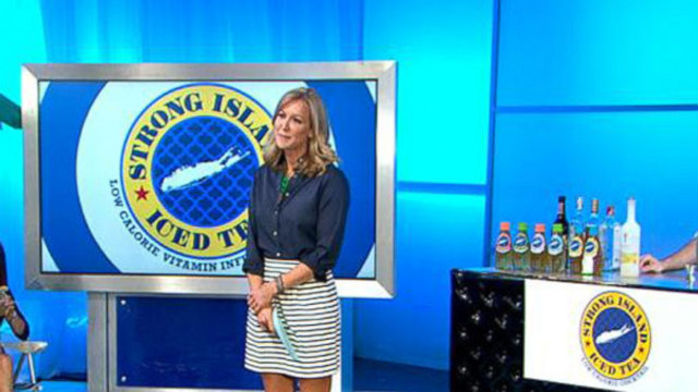 VIDEO: Lara tries to score big pitching her Strong Island Iced Tea to the sharks.