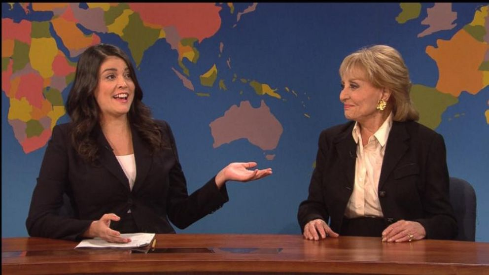 VIDEO: Barbara Walters Spoofs Her Years of Excellence on SNL