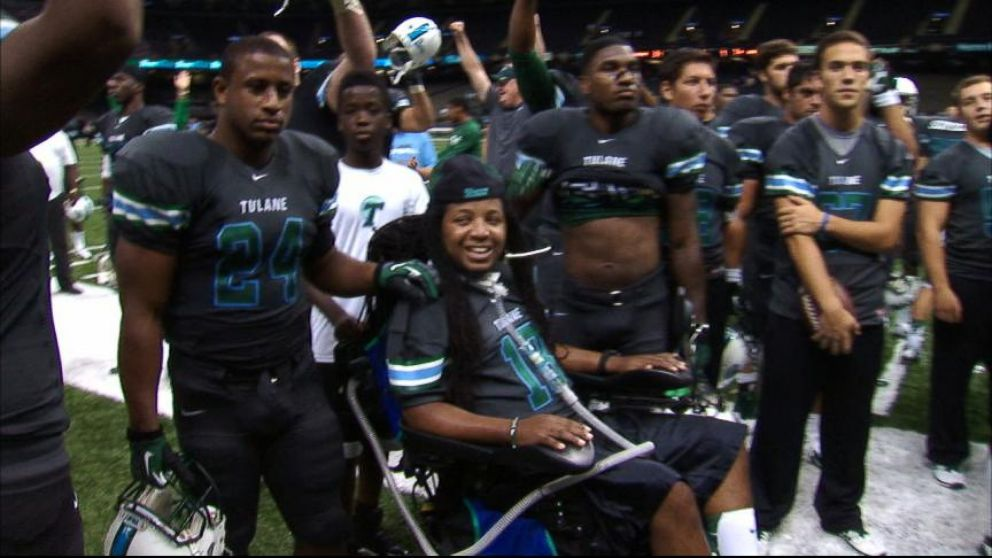 VIDEO: College football star Devon Walkers life changed when an accident paralyzed him from the neck down.