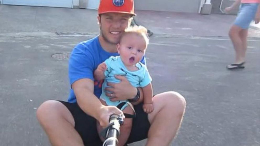 VIDEO: Baby Nates faces while riding a skateboard with his daddy is sheer delight.