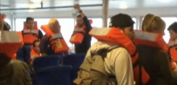 VIDEO: Giant Wave Caught-on-Tape as it Strikes Ferry