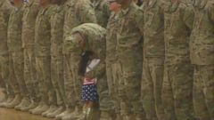 VIDEO: Karis Oglesby, 2, couldnt wait to greet her dad, 1st Lt. Daniel Oglesby, after an 8-month deployment to Kuwait.