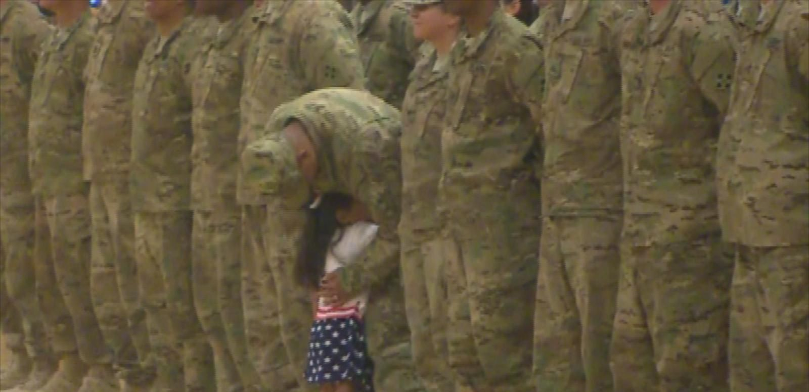 VIDEO: Karis Oglesby, 2, couldn't wait to greet her dad, 1st Lt. Daniel Oglesby, after an 8-month deployment to Kuwait.