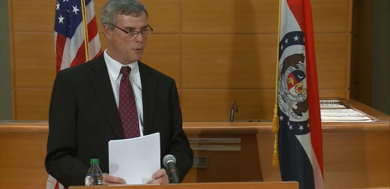 VIDEO: The grand jurys decision is announced in the death of unarmed teenager Michael Brown.